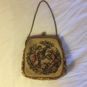 Handbags - Pretty Vintage Embroidered Tapestry Purse